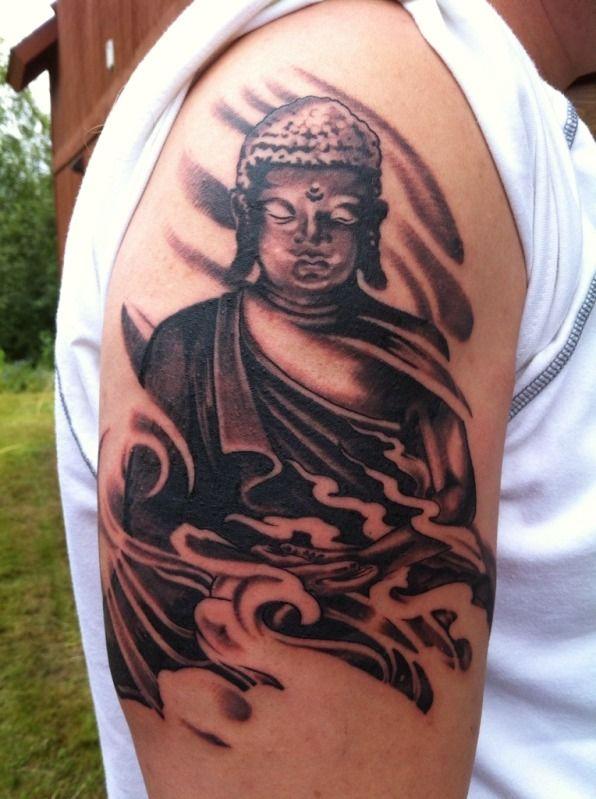 43 besten buddha tattoo on shoulder bilder auf pinterest. Black Bedroom Furniture Sets. Home Design Ideas