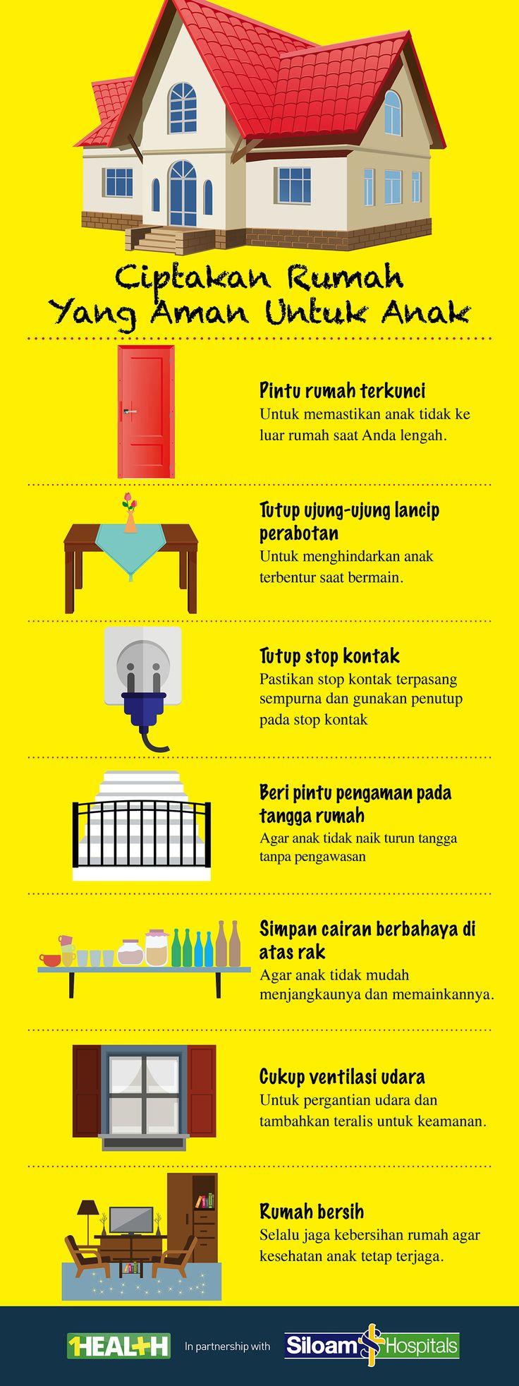 1Health | Infographics : Ciptakan Rumah Yang Aman Untuk Anak