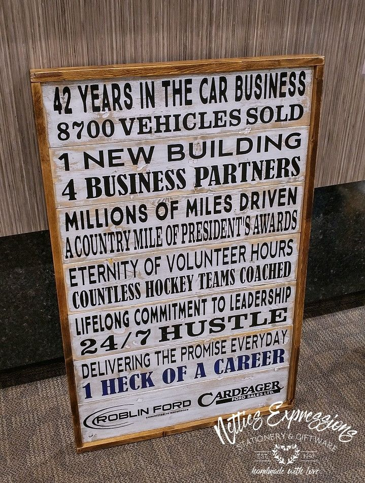Custom Framed Pallet Sign with Distressed Wood