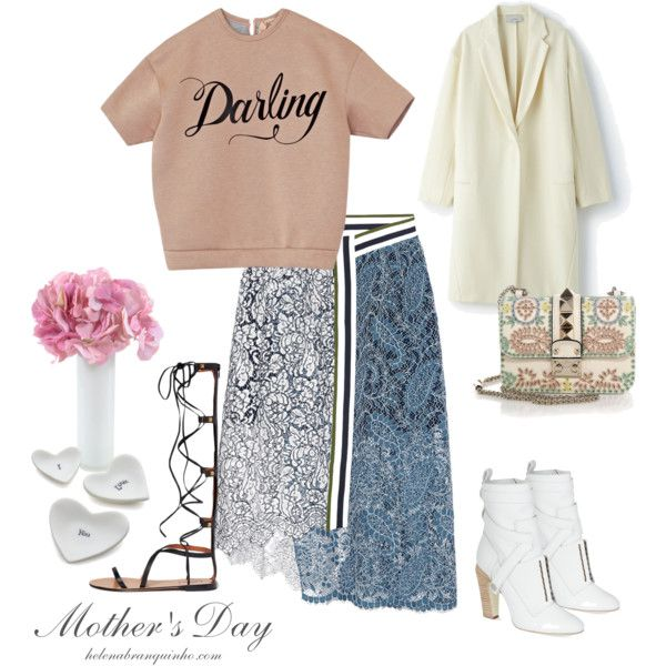 Mother's Day by helenabranquinho on Polyvore featuring moda, Studio Nicholson, Preen, Fendi, Valentino, Crate and Barrel, New Growth Designs, mother and fashionmom