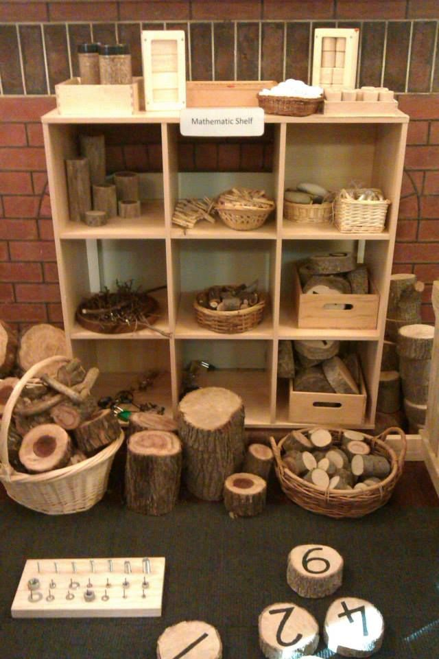 What a stunning math shelf via Natural Inspired Environments