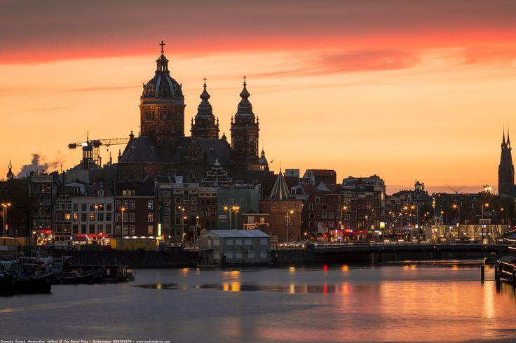 https://flic.kr/p/21DnJcP | Dramatic Sunset, Amsterdam, Holland