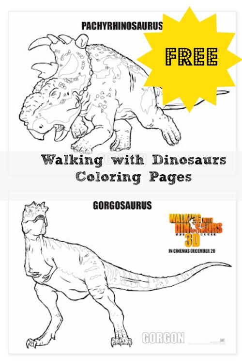 FREE Walking with Dinosaurs Coloring