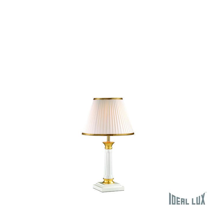 #lampada da #tavolo stile #classico in #PROMO.  #illuminazione #luce #oro #bianco #fogliaoro #paralume #plissettato #light #lights #lighting #illuminazionecasa #ecommerce