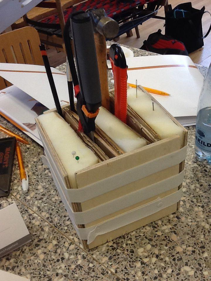 Opbevaring/organiseringsbeholder på din arbejdsplads...