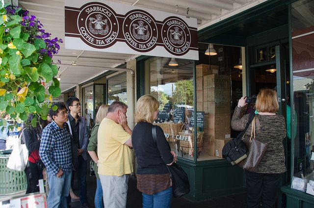 The first Starbucks coffee shop (or is it ... http://www.everintransit.com/places-to-eat-in-seattle-downtown/)