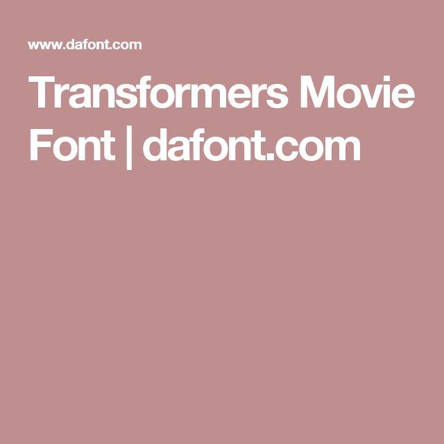 Transformers Movie Font | dafont.com