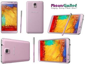 Pink Samsung Galaxy Note 3 best contract deals - http://www.phoneslimited.co.uk/Samsung/Galaxy+Note+3+Pink.html