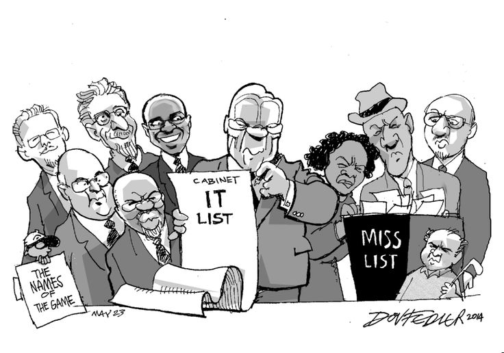 The latest Business Report weekly cartoon  takes a view on the cabinet that President Jacob Zuma has announced.  To read more about this click here: http://www.iol.co.za/business