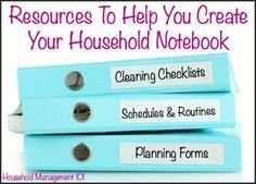 See the typical contents of a household notebook, and how use of these tools can help you enjoy your home and family more.