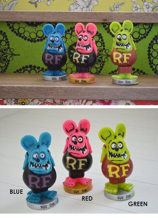 セレクトショップGREEN/アメリカン雑貨/人形[RATFINKBOBBLEHEAD]ラットフィンクのボビングドール首ふり人形フィギュア