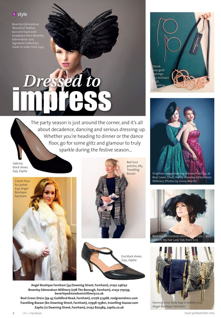 Dressed to impress ~ Shop locally and get set for the party season - decadence, dancing and serious dressing up! #locallife #Farnham #Surrey #style #fashion #inspiration #ideas #shoplocally