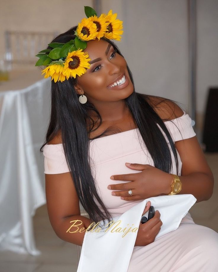 "15.5k Likes, 27 Comments - Africa's Top Wedding Website (@bellanaijaweddings) on Instagram: ""The gorgeous bride, Jennifer in her flower crown! 🌻🌻🌻 New #BNBridalShower post! Before her…"""