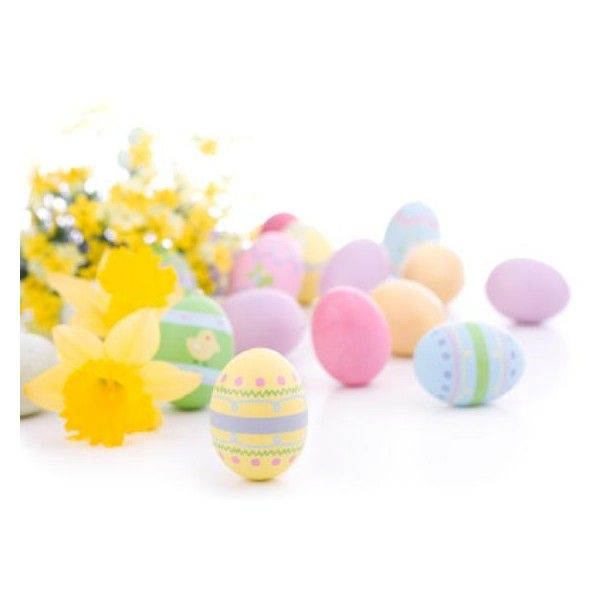 Easter Gift Baskets ❤ liked on Polyvore featuring home, home decor, holiday decorations and easter home decor