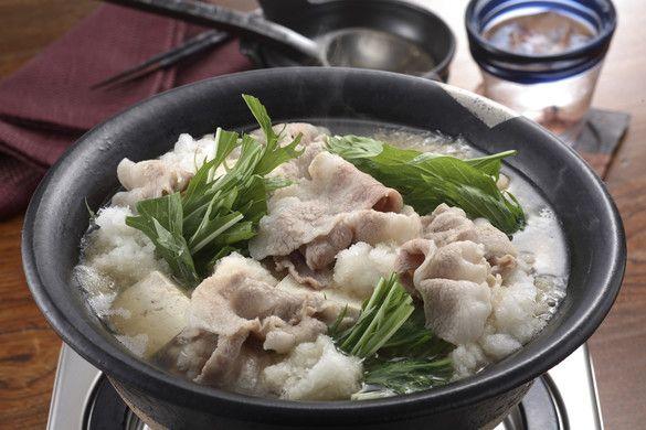豚バラと豆腐の雪見鍋