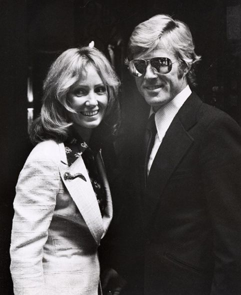 Robert and Lola Redford. What a lucky lady. 1974.