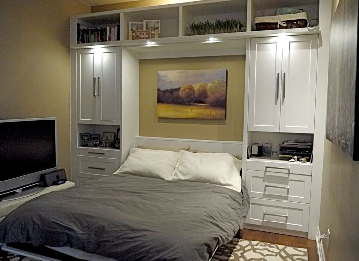 compact murphy bed design ideas with hidden placement built in armoire: classy murphy bed design with white cabinet also drawers feat small tv stand ideas