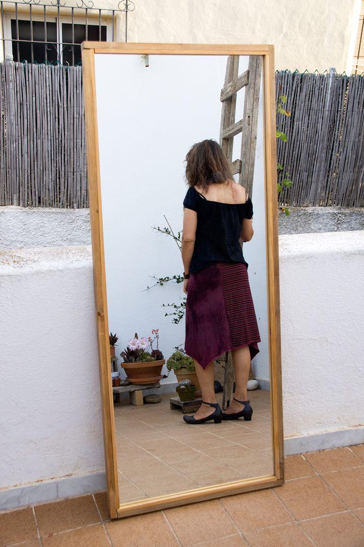 M s de 25 ideas incre bles sobre espejos de cuerpo entero for Espejo marco madera natural