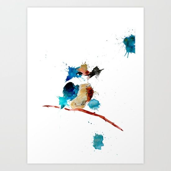 Kingfisher Art Print by Art By Chrissy Taylor - $22.00
