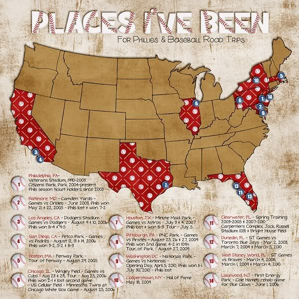 1 Page With A Map That Shows Where You Ve Been Good For Us