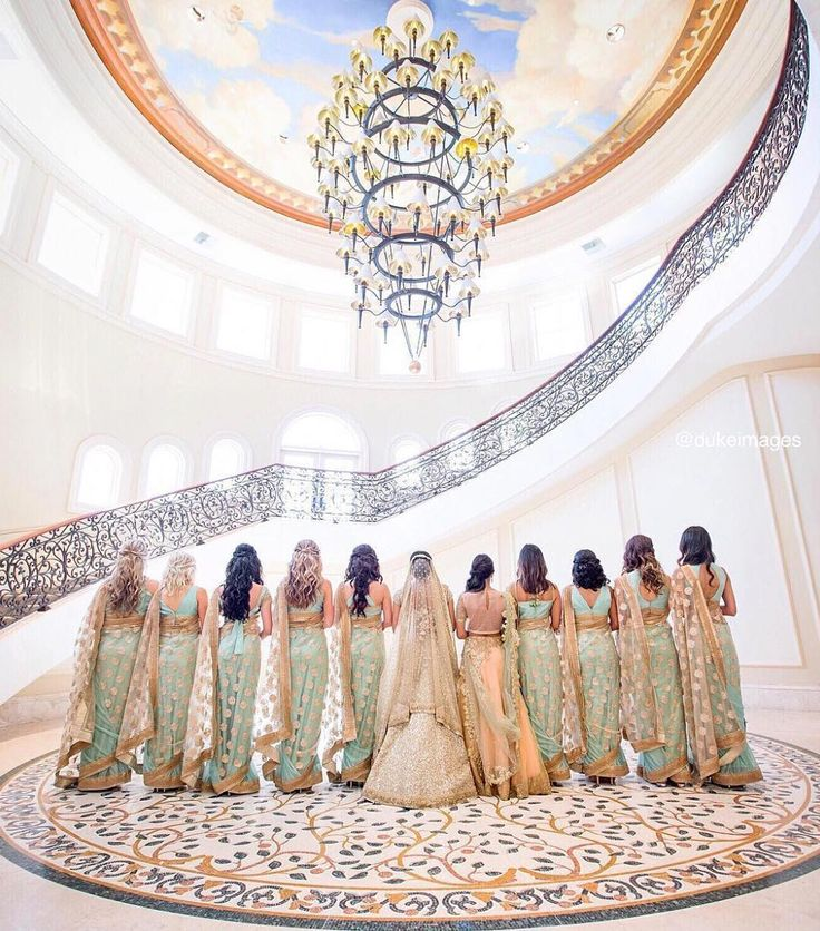 "5,617 Likes, 180 Comments - Pink Orchid Studio™ (@pinkorchidstudio) on Instagram: ""Bridal party goals!  Tag your squad ladies  #Repost @indianweddingbuzz ・・・ Celebrating your…"""