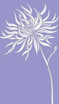 Chrysanthemum Stencil Flower Stencil Large Chrysanthemum Wall Stencil