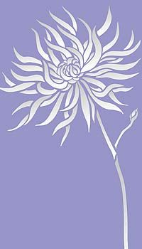 Large Chrysanthemum Wall Stencil