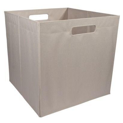 Itso large fabric storage bin khaki fits ikea expedit for Fabric drawers ikea expedit