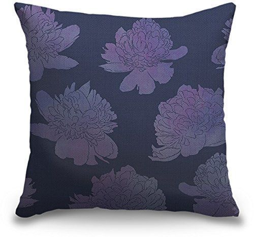 Lavender throw pillows are beautiful, stylish and  trendy. In fact, light purple accent  pillows are incredibly popular in bedrooms and living rooms in homes across  America. Lavender accent pillows give a  room softness and texture along with comfort. Combine with other purple home décor to make a  beautiful purple room.      Circle Art Group Indoor Burlap Throw Pillow - Descending Peonies Lavender