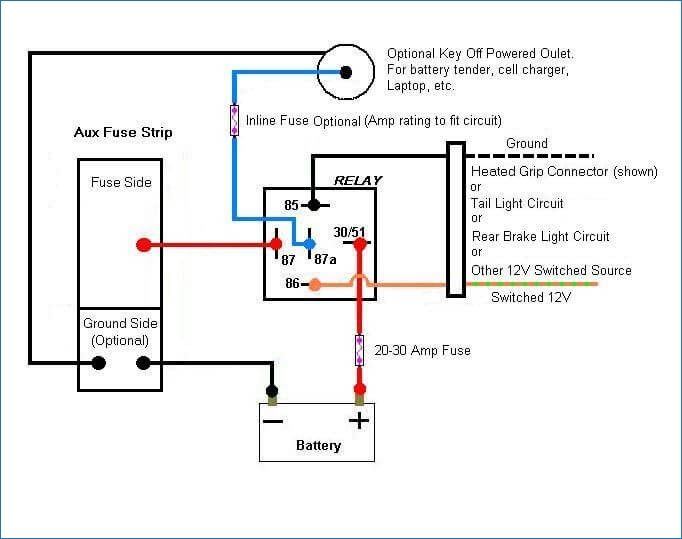 12v Relay Wiring Diagram 5 Pin Relay Fuse Box Diagram