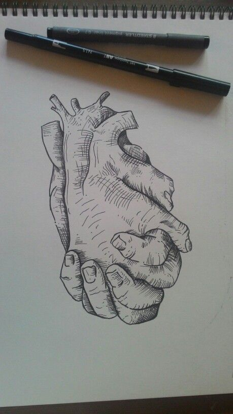 Uploaded by pinterest@alaskamir666 Hands, heart, tombow, art, artist, Illustration, dotwork, tattoo