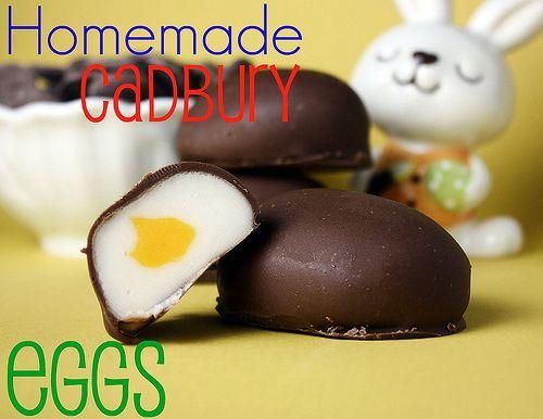 Homemade Creme Eggs...YUM!: Fun Recipes, Cadbury Eggs, Easter, Sweet, Homemade Cadbury, Food, Yum, Dessert