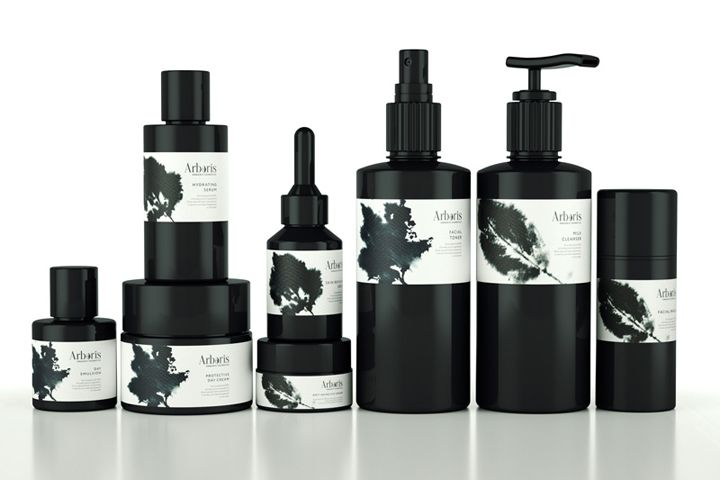 organic skin care cosmetics - bath and beauty labels | Arboris Organic Cosmetics branding by Ohmybrand