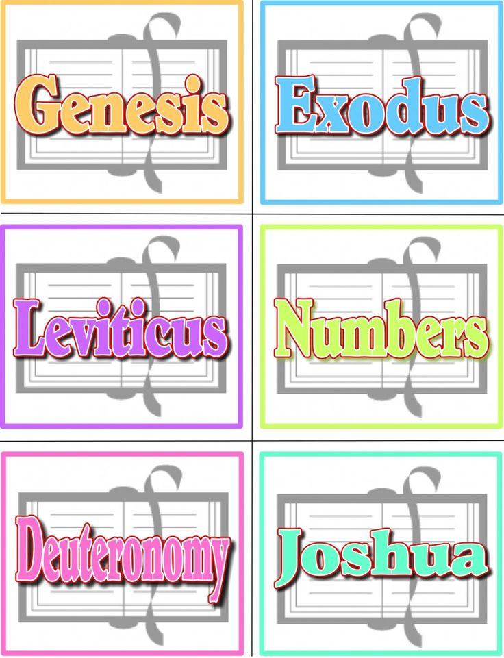Books of Bible Game - cards and ideas