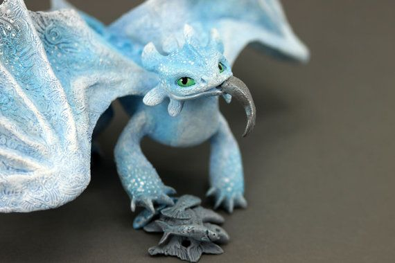 RESERVED Albino Toothless Night Fury Dragon Sculpture ...