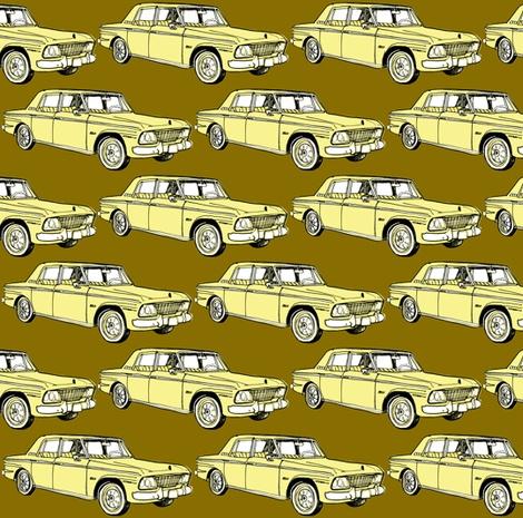 1964 1965 Studebaker Lark Daytona in geel op gouden achtergrond door edsel2084, klik om stof te kopen