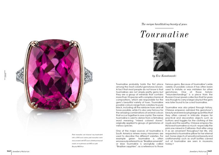 "TOURMALINE is the stone this month at ""The breathtaking beauty of gemstones"""