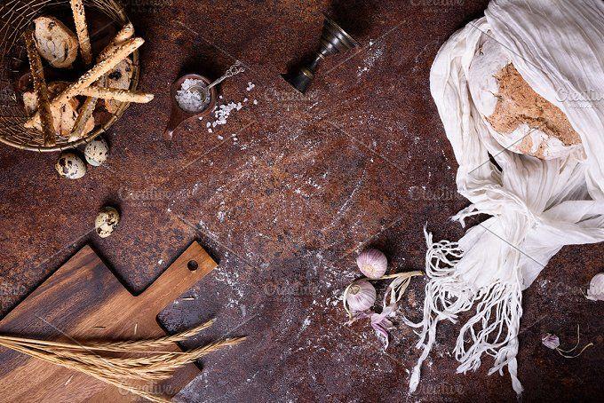 Freshly baked traditional bread by Iuliia Leonova on @creativemarket