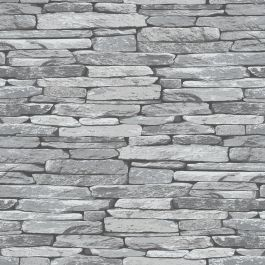 Silver Black Slate Effect Wallpaper - 263144 Windsor Wallcoverings This fantastically realistic silver slate effect wallpaper is based on a metallic silver grey slate stone wall with black shading and is printed on to quality heavyweight textured paper to ensure durability and a quality finish. Easy to apply, this wallpaper will look great when used to decorate a whole room or to create a feature wall. Realistic rustic silver slate stone design with black shading for depth Ideal for featu...