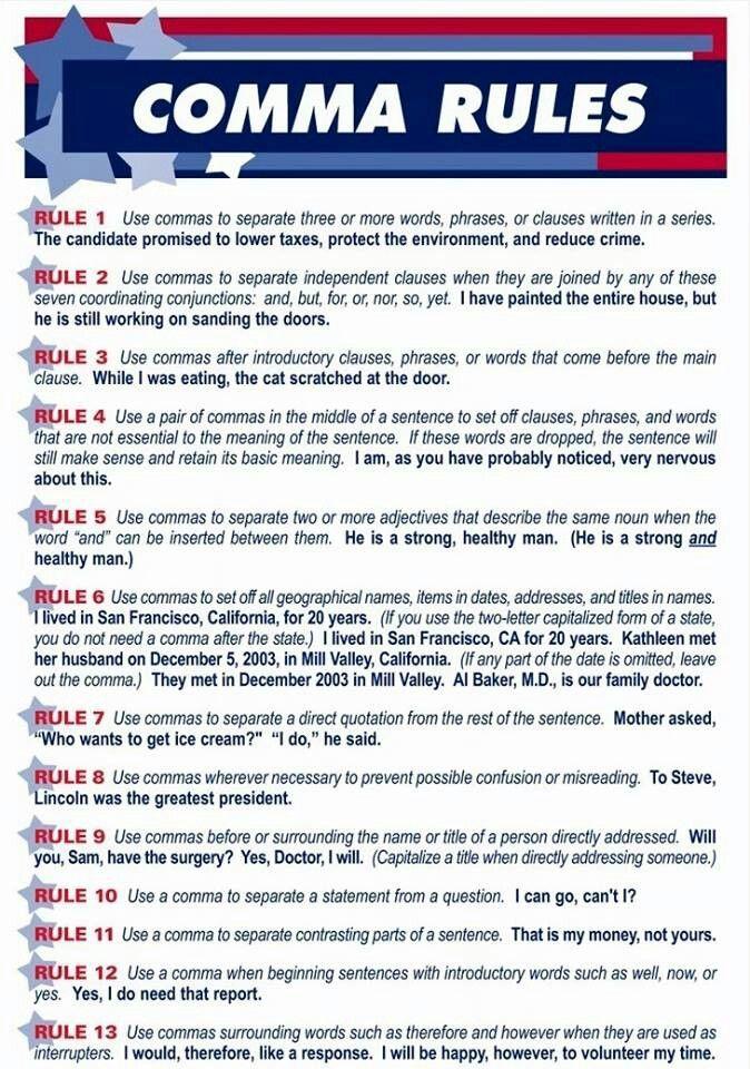 grammar rules dates