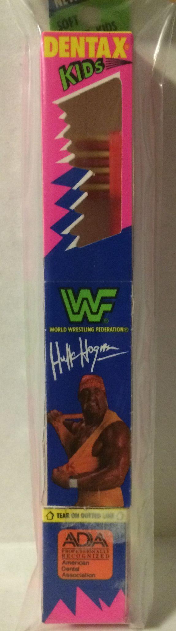 (GBS04713) WWF WWE WCW nWo Wrestling Dentax Kids Toothbrush - Hulk Hogan