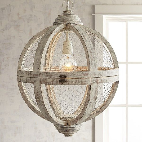 Pier 1 Imports Rosard Wooden Pendant Light White ($299) ❤ liked on Polyvore featuring home, lighting, ceiling lights, white pendant lamp, rustic ceiling lights, white ceiling lights, white pendant lighting and rustic wood lamps
