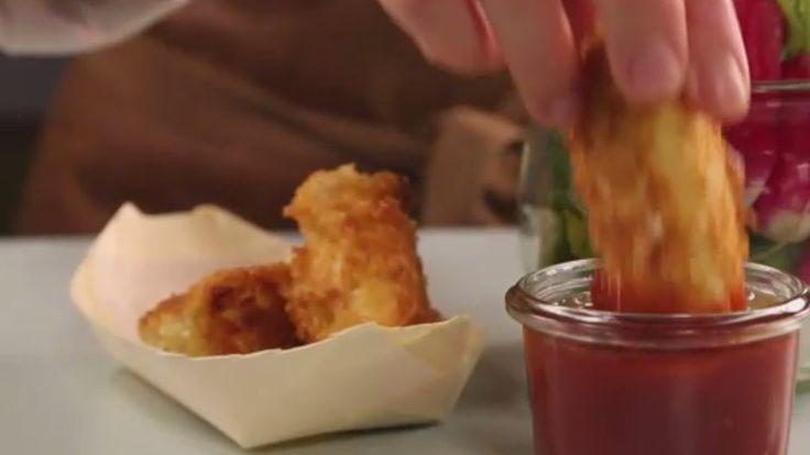 Kyllingenuggets med BBQ & snack grønt