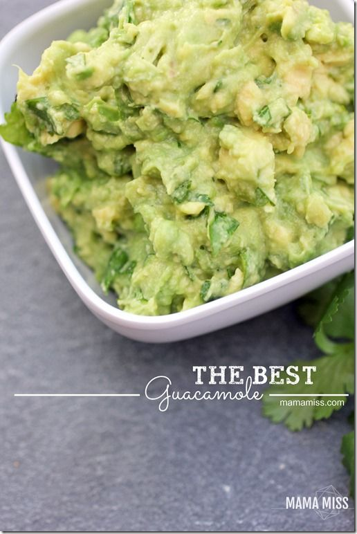 The Best Guacamole   @mamamissblog #guac #avocado #sidedish