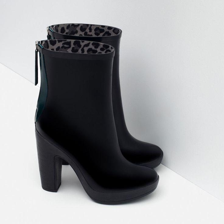 Image 4 of HEELED RAIN BOOTIES from Zara | Boot me up baby ...