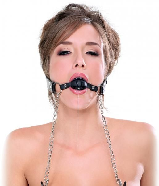 Deluxe Ball Gag And Nipple Clamps