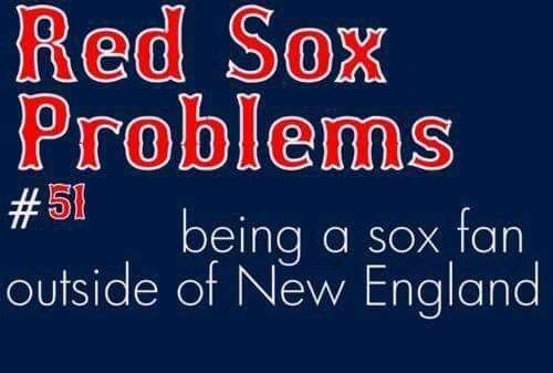 Red Sox fan living in New York isn't easy, but a fan for life, no matter where I live!!