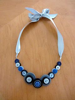 Button Necklace--Cute and unique! A great way to made a bland outfit pop!