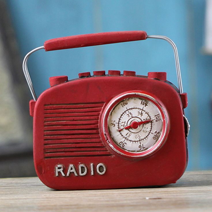 Bar Accessories Shabby Chic Crafts Restoring Ancient Ways Old Radio Personality Zakka Vintage Home Decor 12*4*12cm