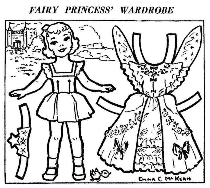 princess paper dolls coloring pages - photo#9